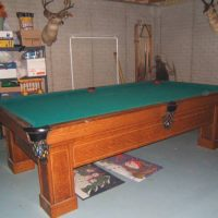 Pool Table Antique Brunswick