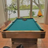 Custom Made 4' X 8' Solid Mahogany Pool Table