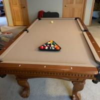8' Pool Table with Ping Pong Table