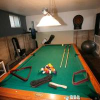 American Heritage Slate Pool Table and accessories