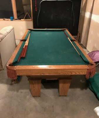 8ft Brunswick Pool Table (SOLD)