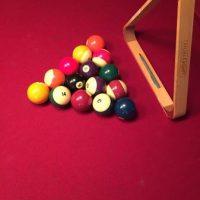 8ft Slate Pool Table & Light